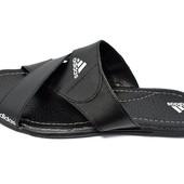 Шлепанцы мужские Adidas Style 500 черные (реплика)