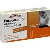 Суппозитории (2-8 лет) Paracetamol-Ratiopharm® 250 mg, 10 шт.