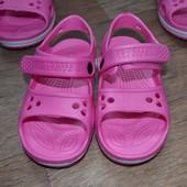 Босоножки пенка для девочек аквашузы аналог crocs Crocband 24-27р эва eva