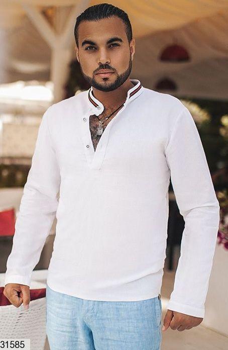 Размеры 46-52 Стильная мужская рубашка фото №1