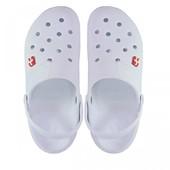 116114 Мужские кроксы. Белые с серым.