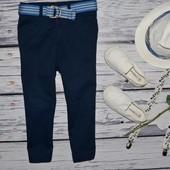 2 - 3 года 98 см фирменные очень крутые легкие летние натуральные брюки модникам классика