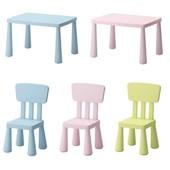 IKEA. Столы, стулья и табуреты Маммут в наличие. цвета в ассортименте