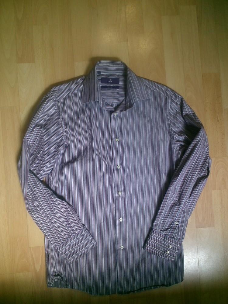 Фирменная рубашка Слим M фото №1