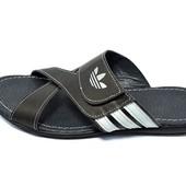 Шлепанцы мужские Adidas Style 36 черные (реплика)