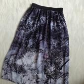Воздушная шифоновая юбка Miss Selfridge  с коротким подъюбником миди длины, 10р.