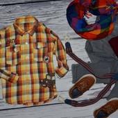 3 - 4 года 104 см очень модная фирменная рубашка для мальчика клетка