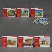 Пазлы конструктор деревянная игра животные 16,5Х12см 24 дет. 6 видов