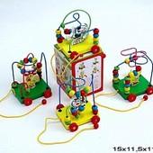 Каталка лабиринт деревянная игрушка развивающая 4 вид.