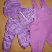 зимовий комбінзон: куртка+ штани, на флісі 1-1,6-2р.