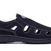 Кожаные мужские сандалии - закрытые (026с)