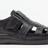 Закрытые сандалии мужские - натуральная кожа (030ч)