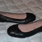 новые балетки туфли M&S 26 см кожа средняя нога Англия размер 40
