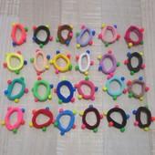 Резинки из микрофибры с разноцветными шариками