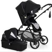 Универсальная коляска 2в1 M-Go Black knight Babysing Франция черный 12122825
