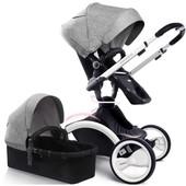 Универсальная коляска 2в1 W-Go Grey white Babysing Франция серый 12122816