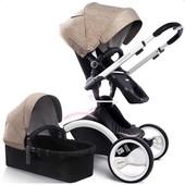 Универсальная коляска 2в1 W-Go Khaki white Babysing Франция бежевый 12122817