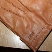 мужские перчатки Next кожа разм L сост отличное