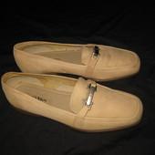 25,5 см стелька, кожаные туфли мокасины Ecco, Экко, нубук