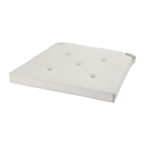 Нарядная подушка на стул, бежевая justina от икеа ikea отличный текстиль в наличии! фото №1