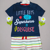 Комплект футболка + шорты 0-3 мес. Mothercare