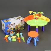 Столик игровой для песка и воды + стульчик 9808-1