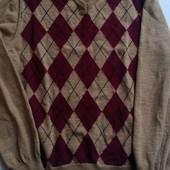 Мужской свитер 100%шерсть