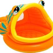 Детский надувной бассейн с навесом Intex Рыбка