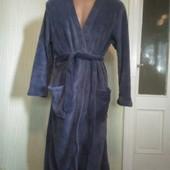 Новий чоловічий синій халат