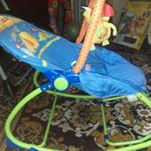 Кресло для кормления, кресло, шезлонг, качалка до 18 кг фирма Fisher-price