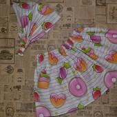 Комплект летняя юбка и косынка