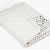 Детское одеяло в кроватку Twins Minky 120/160 (бежевый белый розовый голубой серый)