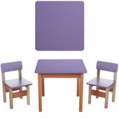 Детский столик и 2 стульчика Bambi F096, фиолетовый