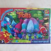 Пазлы ТМ G-Toys из серии Троли, 35 дет