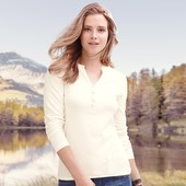 Белый реглан, лонгслив, кофта, футболка с длинным рукавом, евро р-р 40-42, tcm, tchibo