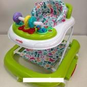 Детские ходунки CRL-9603 light green 3 в 1 (ходунки, качалка, каталка)