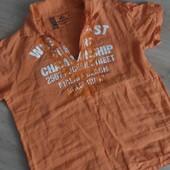 Летняя мужская хлопковая рубашка р.С-М