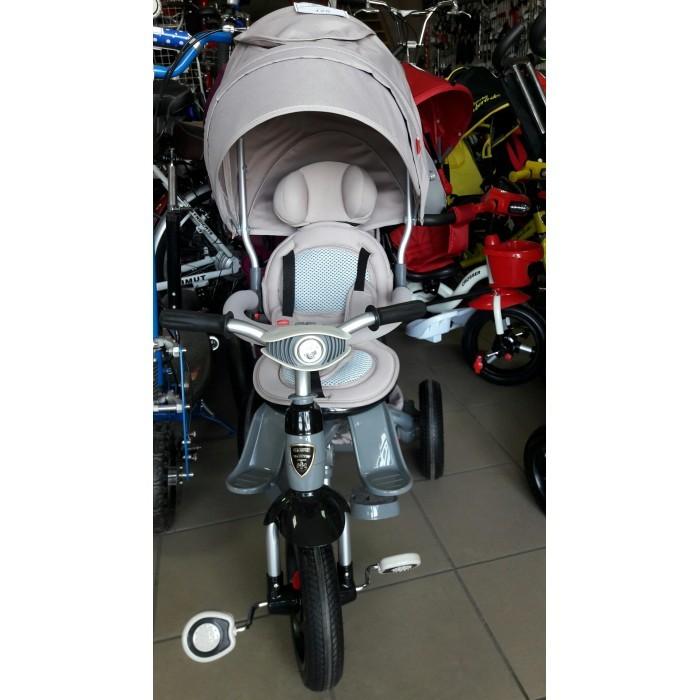 Детский трёхколёсный велосипед-коляска transformer modi azimut фара air (6 в 1) серый фото №1