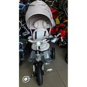 Детский Трёхколёсный велосипед-коляска Transformer Modi Azimut Фара air (6 в 1) серый