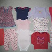 три единицы на выбор! фирменная одежда на малышку 6-9мес