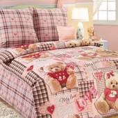 Комплект постельного белья Плюшевые мишки (розовый),бязь гост