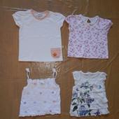 1-2 года, р. 80-92, футболка майка для девочки Next, Matalan фирменная