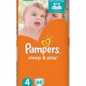 Подгузники памперсы Pampers Sleep&Play все размеры большие упаковки