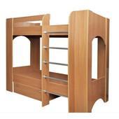 Детская двухярусная кровать с ящиком для белья