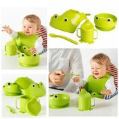 Набір дитячих предметів 4шт Mata Ikea. Детская посуда, набор