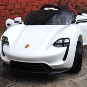 Детский электромобиль Porsche на резиновых eva колёсах,белая