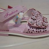 Босоножки для девочки розовые