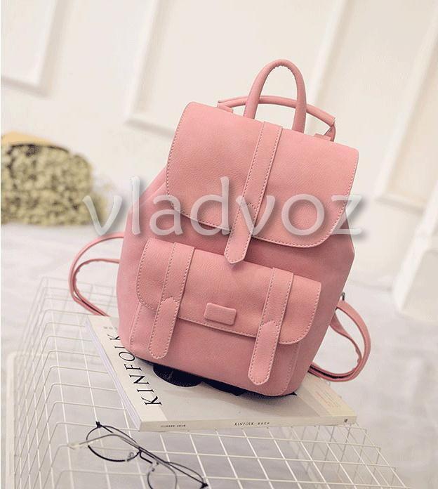 ebd21aeba69e Городской женский молодежный модный стильный рюкзак сумка пудра фото №1