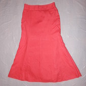 xs-s, поб 44-46,  в идеале! яркая льняная юбка George коралловая на подкладке
