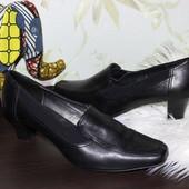 40 27см Footglove Кожаные туфли осень на каблучке